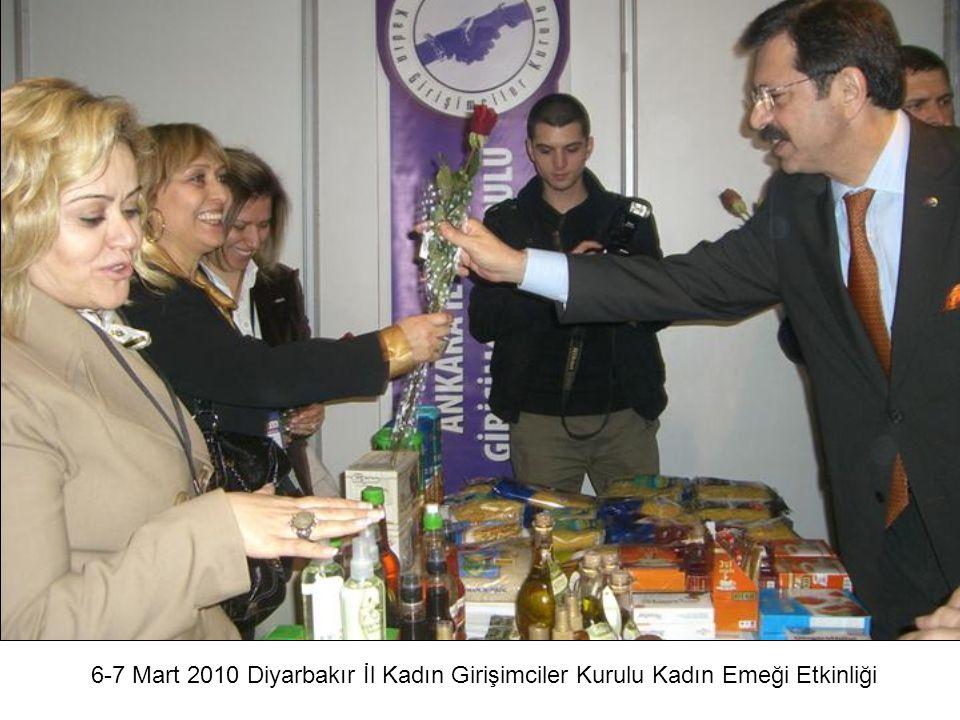 8 Mart 2010 TOBB Ankara İl Kadın Girişimciler Kurulu Açılış Toplantısı Dünya Kadınlar Günü Etkinlikleri ASO Yönetim Kurulu Başkanı Sn.
