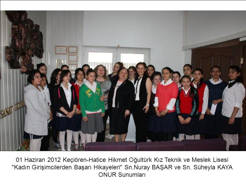 01 Haziran 2012 Keçiören-Hatice Hikmet Oğultürk Kız Teknik ve Meslek Lisesi