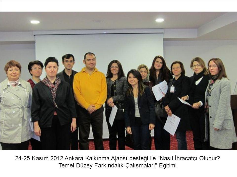 24-25 Kasım 2012 Ankara Kalkınma Ajansı desteği ile
