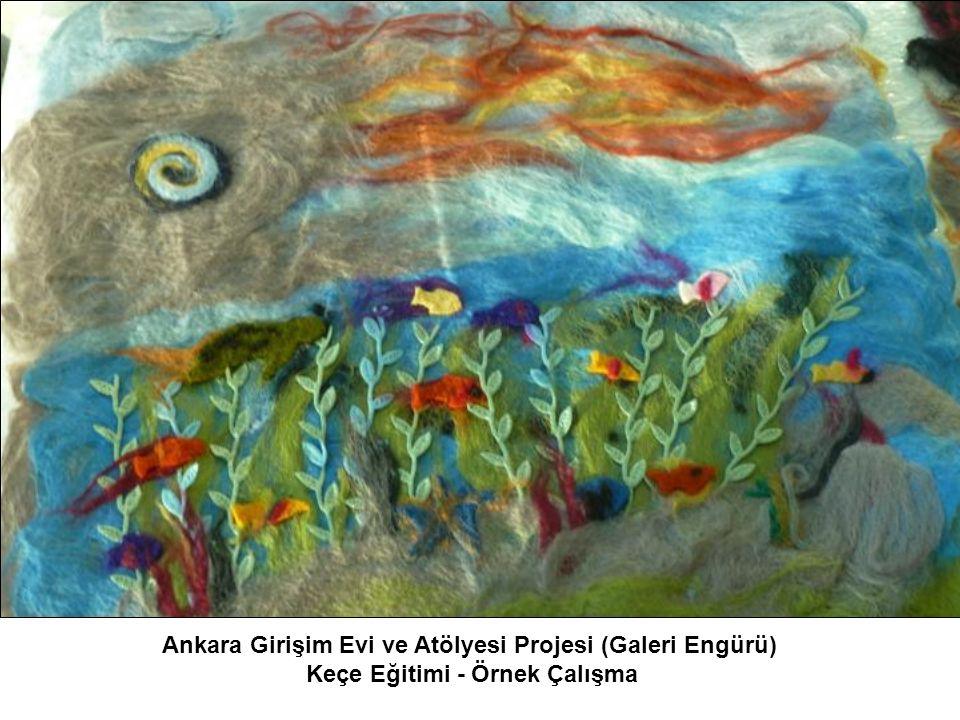 Ankara Girişim Evi ve Atölyesi Projesi (Galeri Engürü) Keçe Eğitimi - Örnek Çalışma