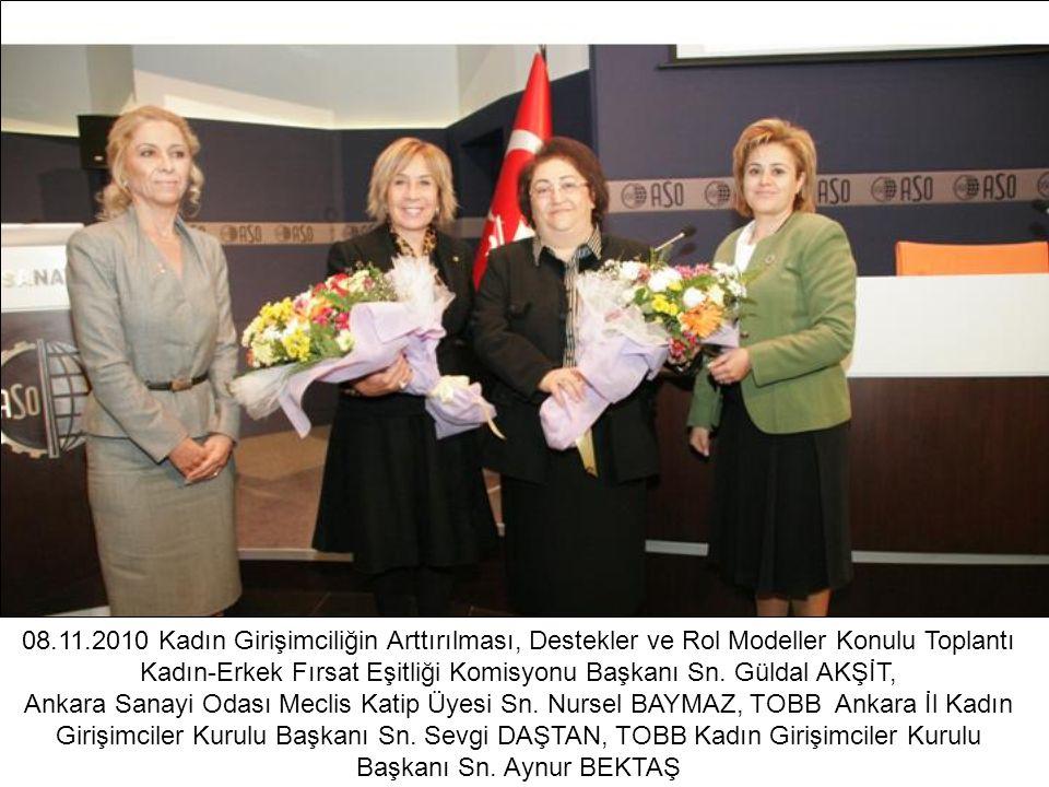 08.11.2010 Kadın Girişimciliğin Arttırılması, Destekler ve Rol Modeller Konulu Toplantı Kadın-Erkek Fırsat Eşitliği Komisyonu Başkanı Sn. Güldal AKŞİT