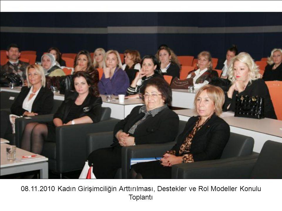 08.11.2010 Kadın Girişimciliğin Arttırılması, Destekler ve Rol Modeller Konulu Toplantı