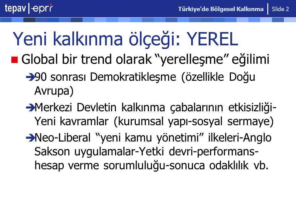 Türkiye de Bölgesel Kalkınma Slide 3 Türkiye yansımaları... 2001 KRİZİ AB SÜRECİ