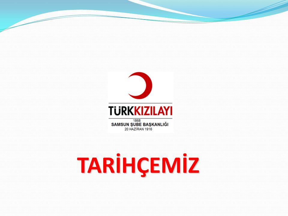 Samsun Şubesinin kuruluşu için atılan ilk adım 25 Şubat 1330 (1914) tarihinde Samsun Müdafaa-i Milliye Merkezi Şube Reisi Hıfzı Bey tarafından İstanbul Hilâl-i Ahmer Merkezine çekilen Samsun'da bir Hilâl-i Ahmer Şubesi teşkil etmesini talep eden telgraftır.