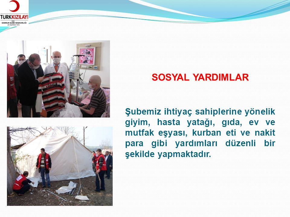 Türk Kızılayı Samsun Şubesi kentimizde sel, yangın vb.