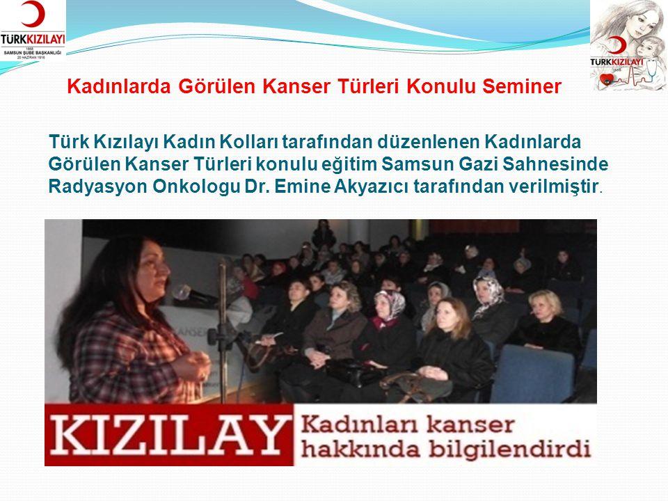 TÜRK EL SANATLARI SERGİSİ Türk Kızılayı Samsun Şubesi Kadın Kollarımız 19 Mayıs Milli Mücadele kutlama faaliyetleri kapsamında Türk El Sanatları Sergisi açtı.