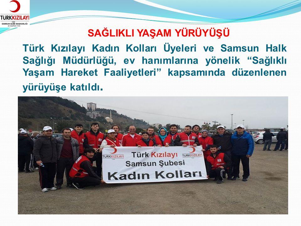 """Türk Kızılayı Kadın Kolları Üyeleri ve Samsun Halk Sağlığı Müdürlüğü, ev hanımlarına yönelik """"Sağlıklı Yaşam Hareket Faaliyetleri"""" kapsamında düzenlen"""