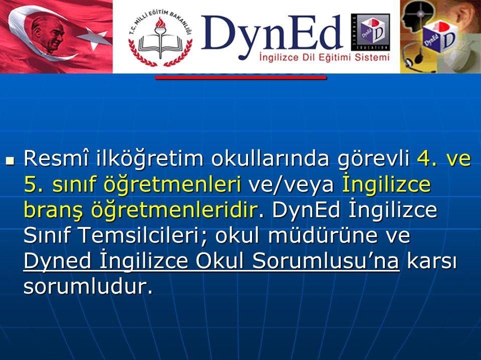 DynEd İngilizce Sınıf Temsilcileri: Resmî ilköğretim okullarında görevli 4.