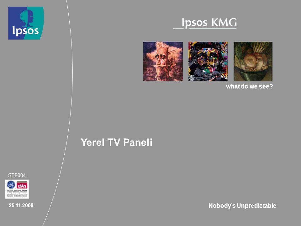 2 | Ipsos KMG Yöresel TV Ölçümü Paneli: Kapsam Ipsos KMG, 2008 yılında Yöresel TV Ölçümü Panelini daha geniş kapsamda ve sektöre açık olarak yürütmeye devam etmiştir.