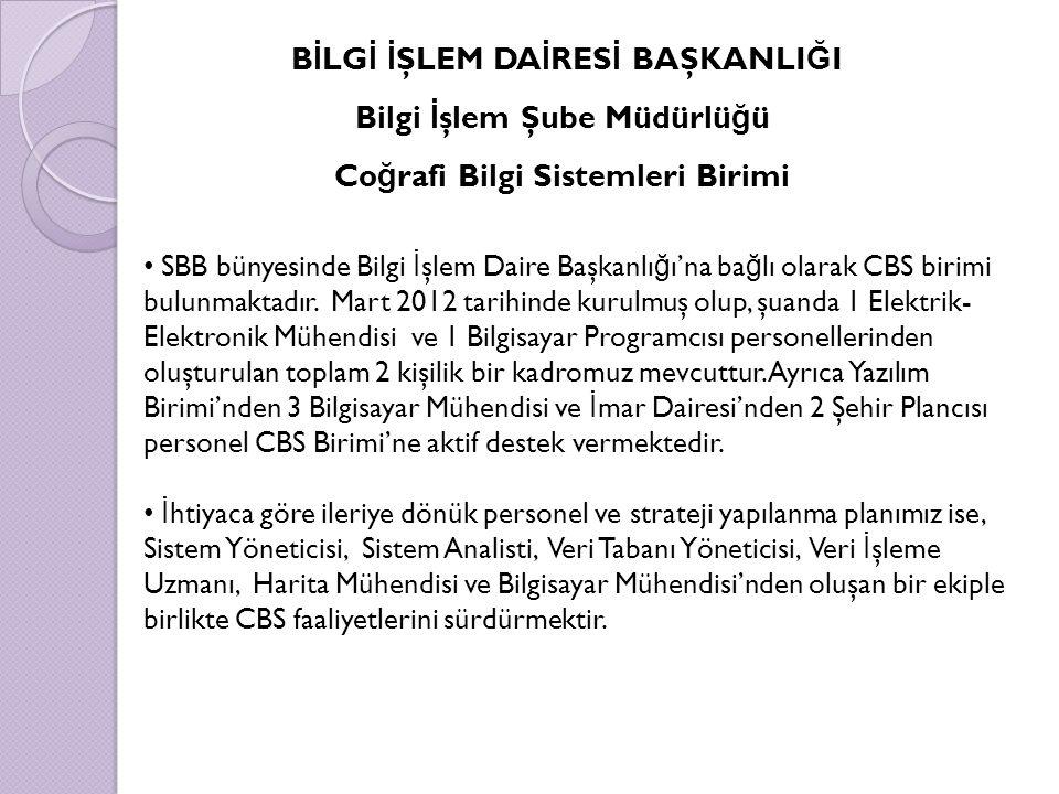 SBB bünyesinde Bilgi İ şlem Daire Başkanlı ğ ı'na ba ğ lı olarak CBS birimi bulunmaktadır.