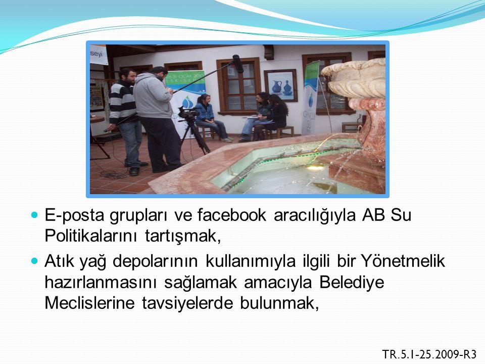 Türkiye'de ulusal su politikasının hazırlanması sürecine gençliğin katılımını sağlamak üzere bir Su Derneği kurulmasını teşvik etmek, Olası bir felaket halinde Belediye Meclisleri ve yerel hükümetlerle işbirliği halinde yürütülmesi gerekli su stratejilerinin önemi konusunda T.B.M.M'deki farkındalığı artırmak, TR.