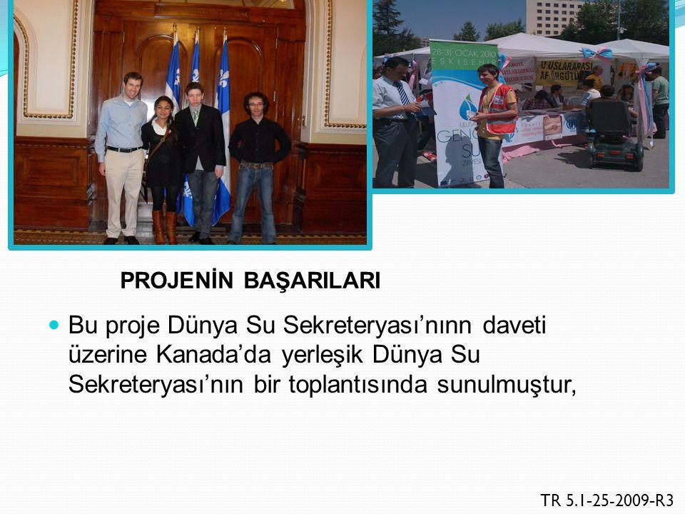 Bu projenin hemen ardından Türk Kızılayı Eskişehir Şubesi Avrupa Biyoloji Öğrencileri Sempozyumuna (SymBiose 2010) ev sahipliği yapmış ve AB su politikaları bu Sempozyumda da tartışmaya açılmıştır, TR.5.1-25-2009-R3