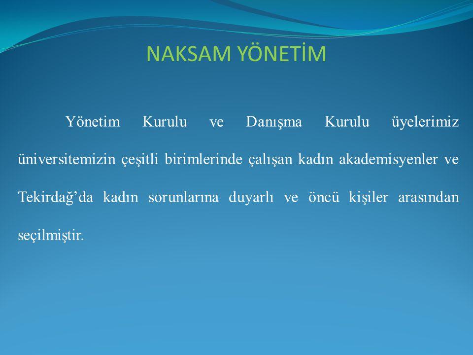 Yönetim Kurulu ve Danışma Kurulu üyelerimiz üniversitemizin çeşitli birimlerinde çalışan kadın akademisyenler ve Tekirdağ'da kadın sorunlarına duyarlı