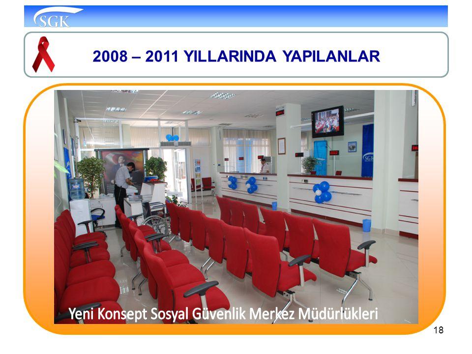 18 2008 – 2011 YILLARINDA YAPILANLAR