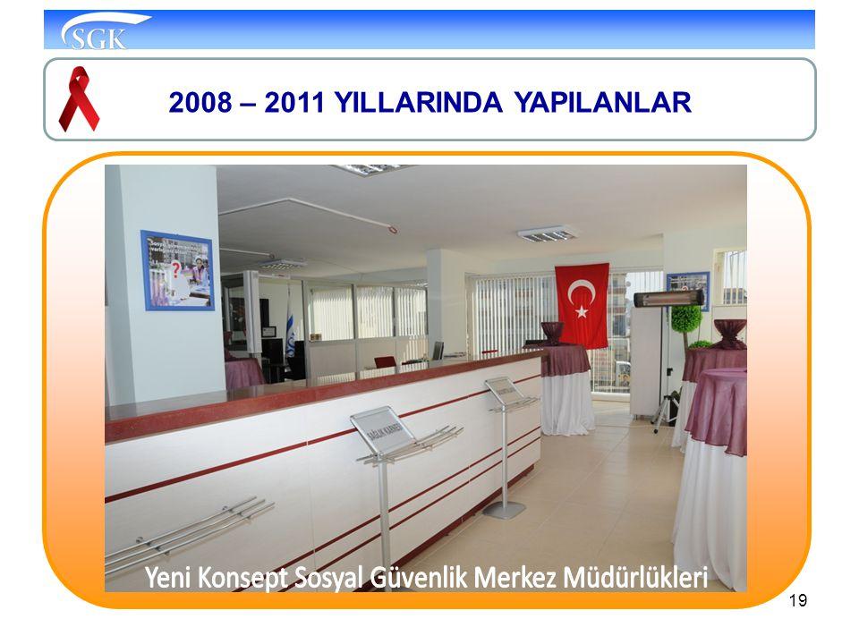 19 2008 – 2011 YILLARINDA YAPILANLAR