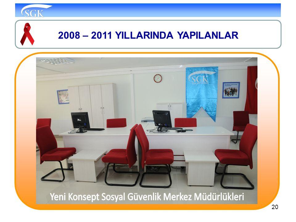 20 2008 – 2011 YILLARINDA YAPILANLAR