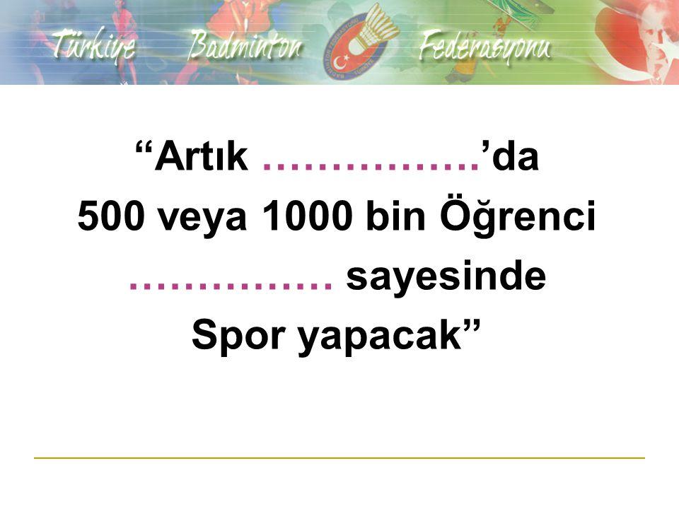 PROJENİN TANIMI ve SPONSOR HAKLARI Sponsor firmanın belirleyeceği bir ilde spor salonunda ………………… Yaş gruplarından birinde Türkiye Badminton Şampiyonası yapılmasıdır.