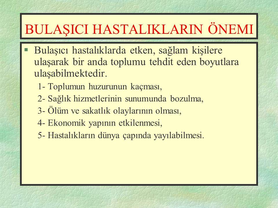 BULAŞICI HASTALIKLARDA BİLDİRİM ve KARANTİNA  Besin zehirlenmelerinin bildirimi Umumi Hıfzıssıhha Yasası'nın 57.