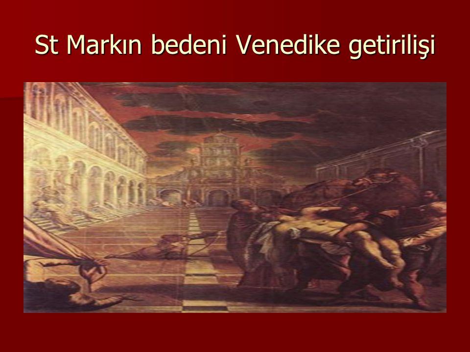 St Markın bedeni Venedike getirilişi