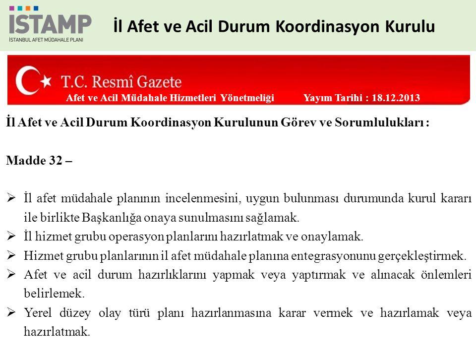 1.Satın Alma ve Kiralama Hizmet Grubu 2.Muhasebe, Bütçe ve Mali Raporlama Hizmet Grubu 3.Zarar Tespit Hizmet Grubu 3 Grup Finans ve İdari İşler İSTAMP İstanbul Afet Müdahale Planı Hizmet Grupları