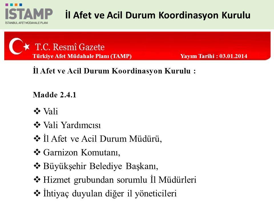 ANA ÇÖZÜM ORTAĞI İstanbul AFAD DESTEK ÇÖZÜM ORTAKLARI Garnizon Komutanlığı İBB İtfaiye Daire Başkanlığı Sahil Güvenlik Marmara Boğazlar Kom.