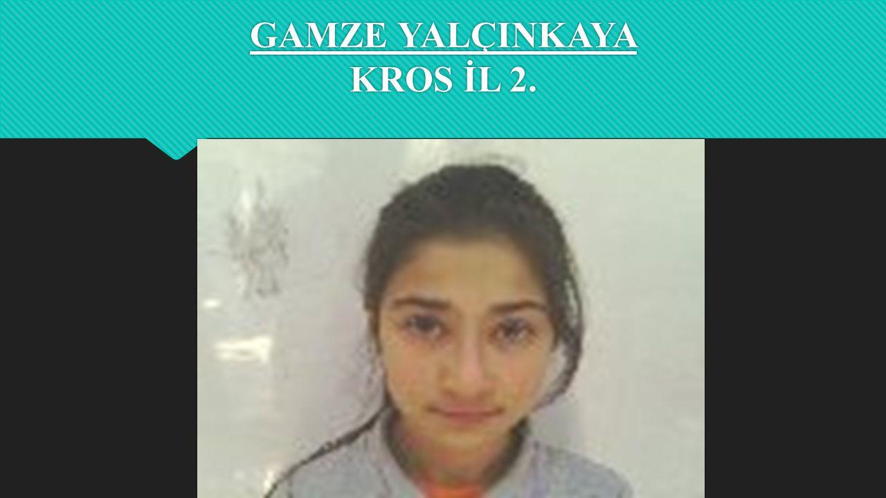 KÜBRA KAYA GÜLLE ATME VE DİSK ATMA İL 3.