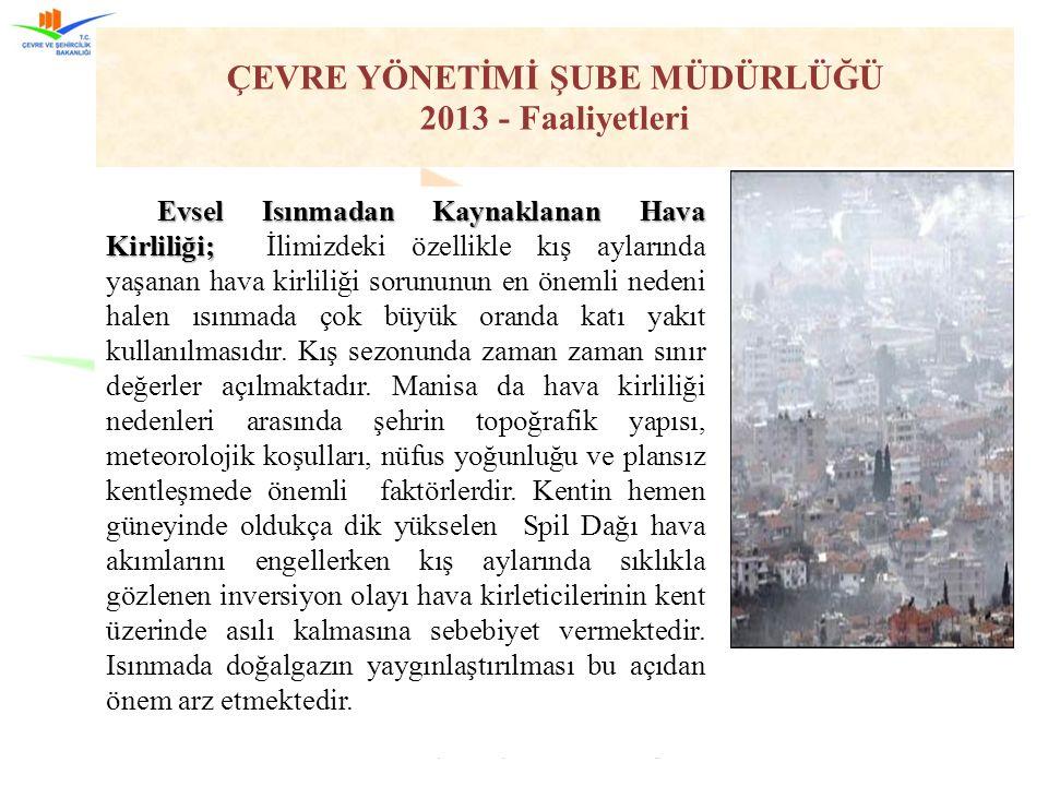 Manisa Çevre ve Şehircilik İl Müdürlüğü80 Evsel Isınmadan Kaynaklanan Hava Kirliliği; Evsel Isınmadan Kaynaklanan Hava Kirliliği; İlimizdeki özellikle