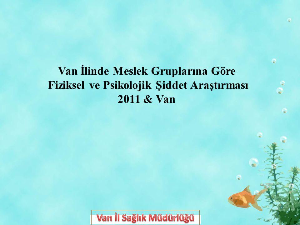 Van İlinde Meslek Gruplarına Göre Fiziksel ve Psikolojik Şiddet Araştırması 2011 & Van