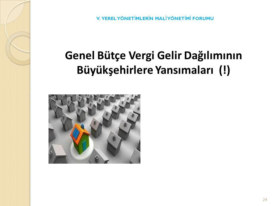 Genel Bütçe Vergi Gelir Dağılımının Büyükşehirlere Yansımaları (!) V.