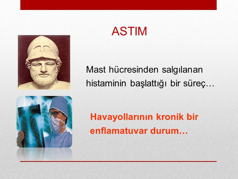 ASTIM Mast hücresinden salgılanan histaminin başlattığı bir süreç… Havayollarının kronik bir enflamatuvar durum…