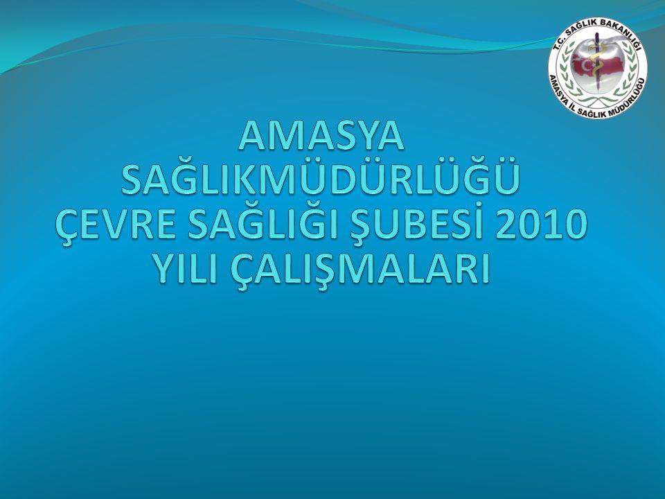 Tablo 7.Amasya ilinin 2010 yılı içme suyu, kaynak suyu ve doğal mineralli su çalışmaları.