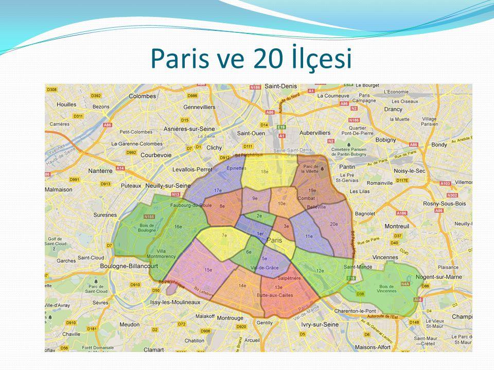 Paris ve 20 İlçesi
