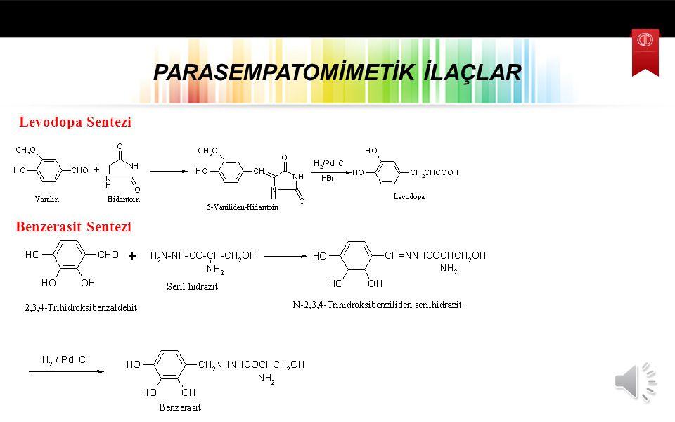 PARASEMPATOMİMETİK İLAÇLAR Levodopa 2-amino-3-(3,4-dihidroksifenil) propanoik asid DOPA Dekarboksilaz İnhibitörleri Karbidopa 2-Metil-2-hidrazino-3-(3
