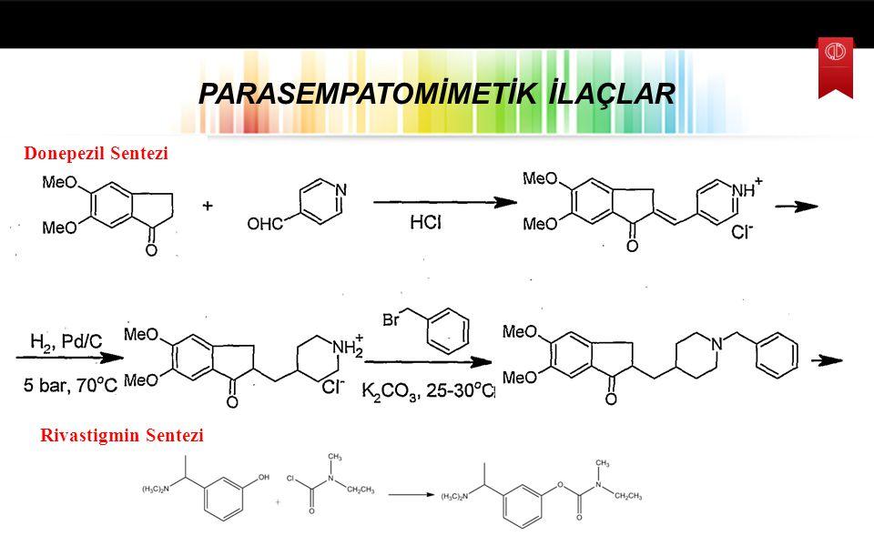 Takrin ANTİKOLİNESTERAZ İLAÇLAR Rivastigmin 1,2,3,4-Tetrahidro-9-akridinilamin 5-Trifluorometoksi-2-aminobenzotiyazol Pirasetam 2-(2-Okso-1-pirolidini