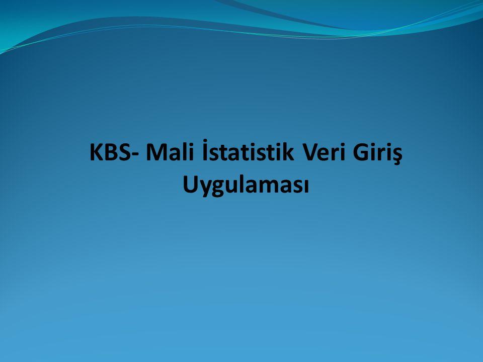 KBS- Mali İstatistik Veri Giriş Uygulaması