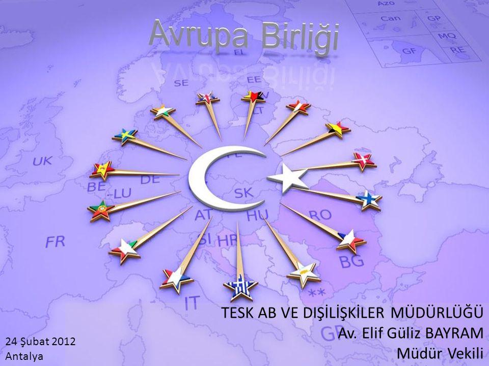 TESK AB VE DIŞİLİŞKİLER MÜDÜRLÜĞÜ Av. Elif Güliz BAYRAM Müdür Vekili 24 Şubat 2012 Antalya