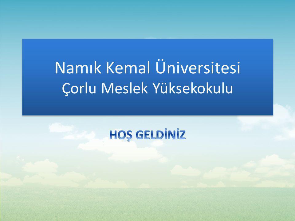 Namık Kemal Üniversitesi Çorlu Meslek Yüksekokulu