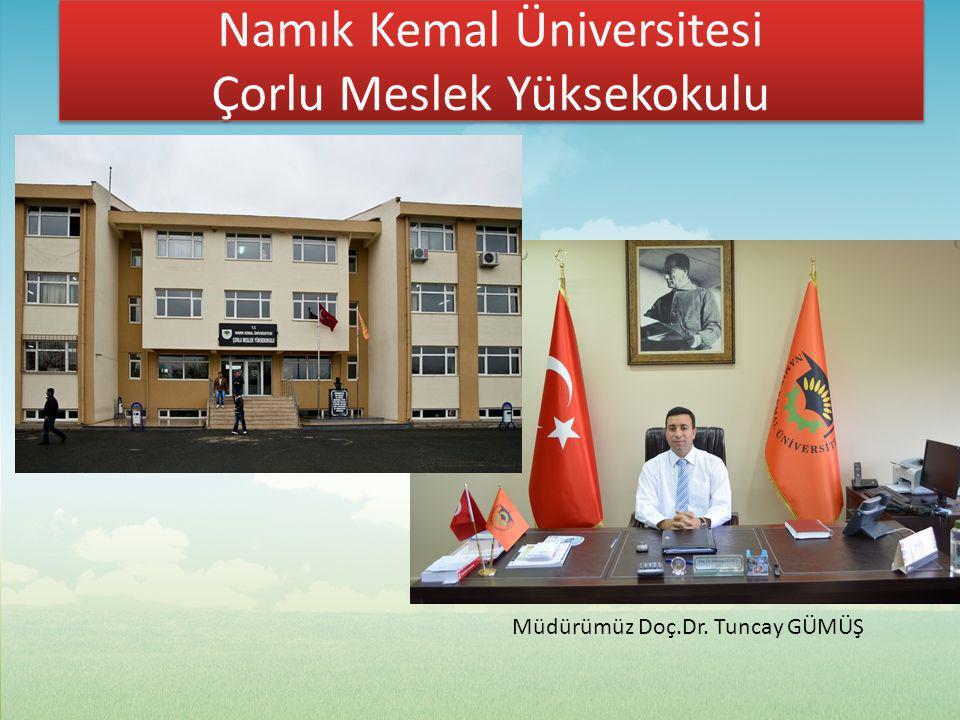 Namık Kemal Üniversitesi Çorlu Meslek Yüksekokulu Namık Kemal Üniversitesi Çorlu Meslek Yüksekokulu Üniversitemizin en eski Yüksekokullarından biri olup, hızla gelişen ve değişen bir eğitim ve öğretim birimidir.