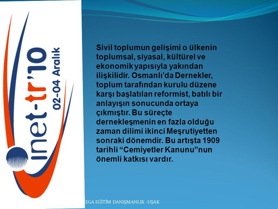 Sivil toplumun gelişimi o ülkenin toplumsal, siyasal, kültürel ve ekonomik yapısıyla yakından ilişkilidir. Osmanlı'da Dernekler, toplum tarafından kur