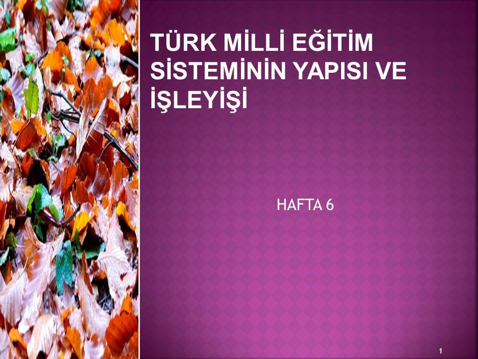 32  Türk milli kültürünün dış ülkelerde korunması, tanıtılması ve yaygınlaştırılması ile ilgili eğitim ve öğretim hizmetlerini düzenlemek üzere, Millî Eğitim Bakanlığı yurtdışı teşkilâtları oluşturulmuştur.