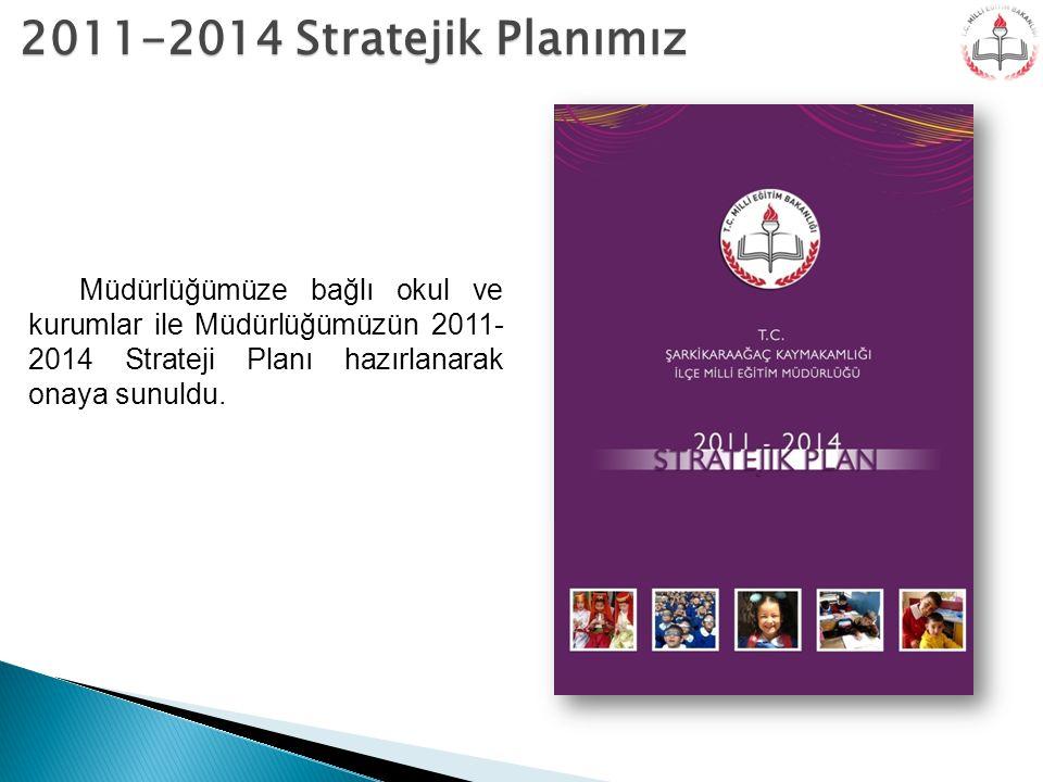 2011-2014 Stratejik Planımız Müdürlüğümüze bağlı okul ve kurumlar ile Müdürlüğümüzün 2011- 2014 Strateji Planı hazırlanarak onaya sunuldu.