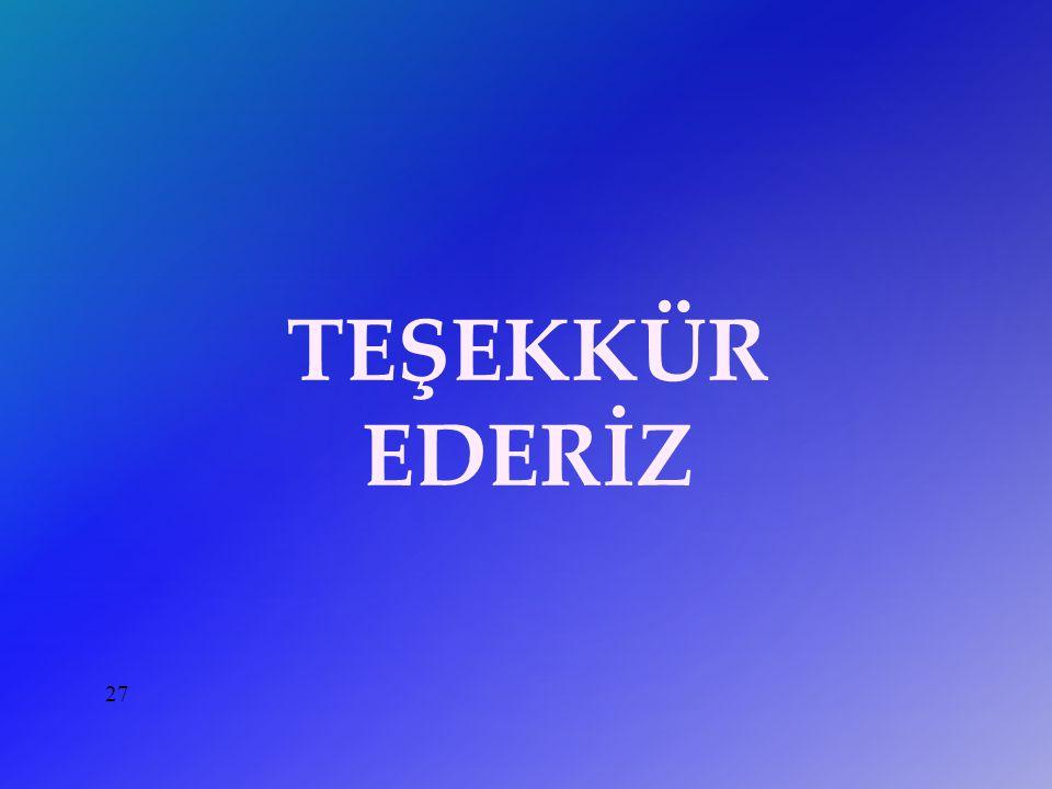 27 TEŞEKKÜR EDERİZ