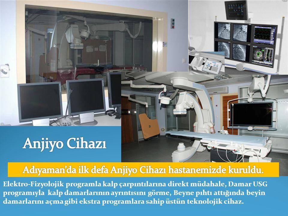 3 boyutlu EKO cihazı Türkiye'de 6 kardiyoloji merkezinde mevcut olup 7.'si de hastanemize kuruldu.