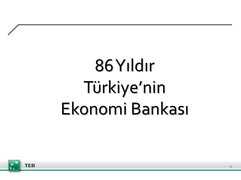 86 Yıldır Türkiye'nin Ekonomi Bankası 15