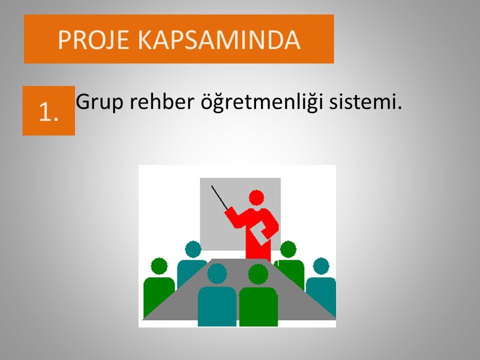 PROJE KAPSAMINDA Grup rehber öğretmenliği sistemi. 1.