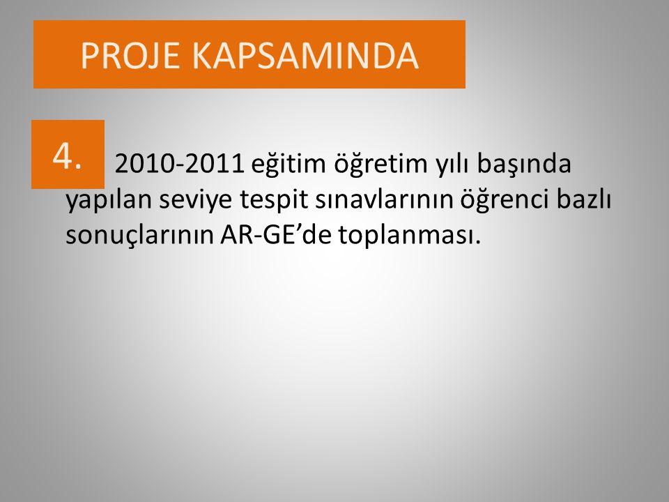 PROJE KAPSAMINDA 4.