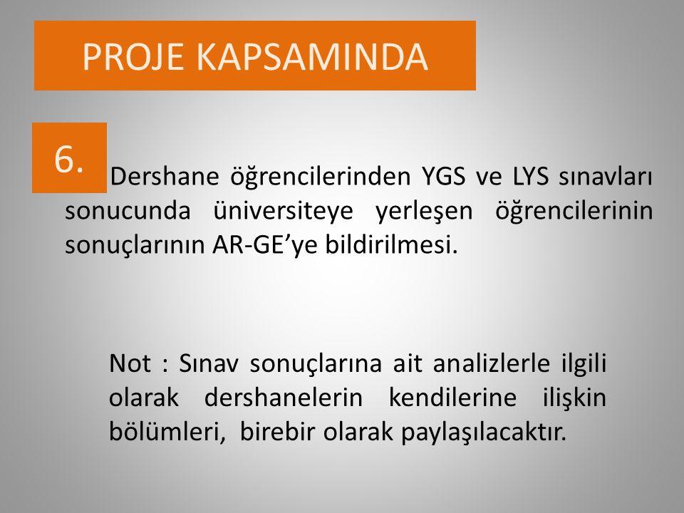 PROJE KAPSAMINDA 6.