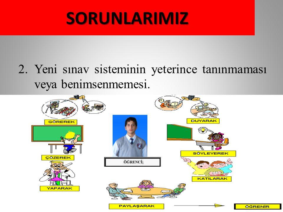 3.Yeni müfredat sistemi ve yapılandırmacı eğitim yaklaşımına uyum problemi.SORUNLARIMIZ