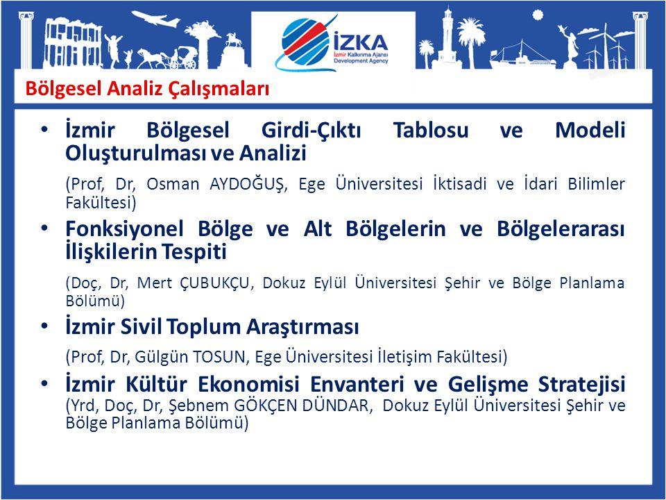Bölgesel Analiz Çalışmaları İzmir Bölgesel Girdi-Çıktı Tablosu ve Modeli Oluşturulması ve Analizi (Prof, Dr, Osman AYDOĞUŞ, Ege Üniversitesi İktisadi