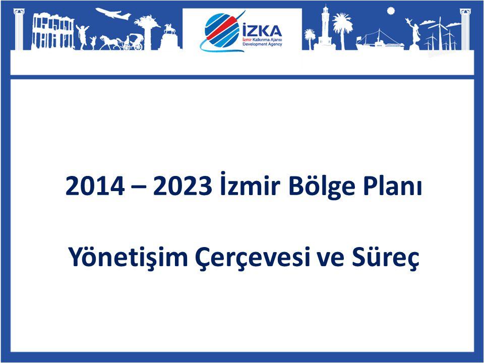 2014 – 2023 İzmir Bölge Planı Yönetişim Çerçevesi ve Süreç